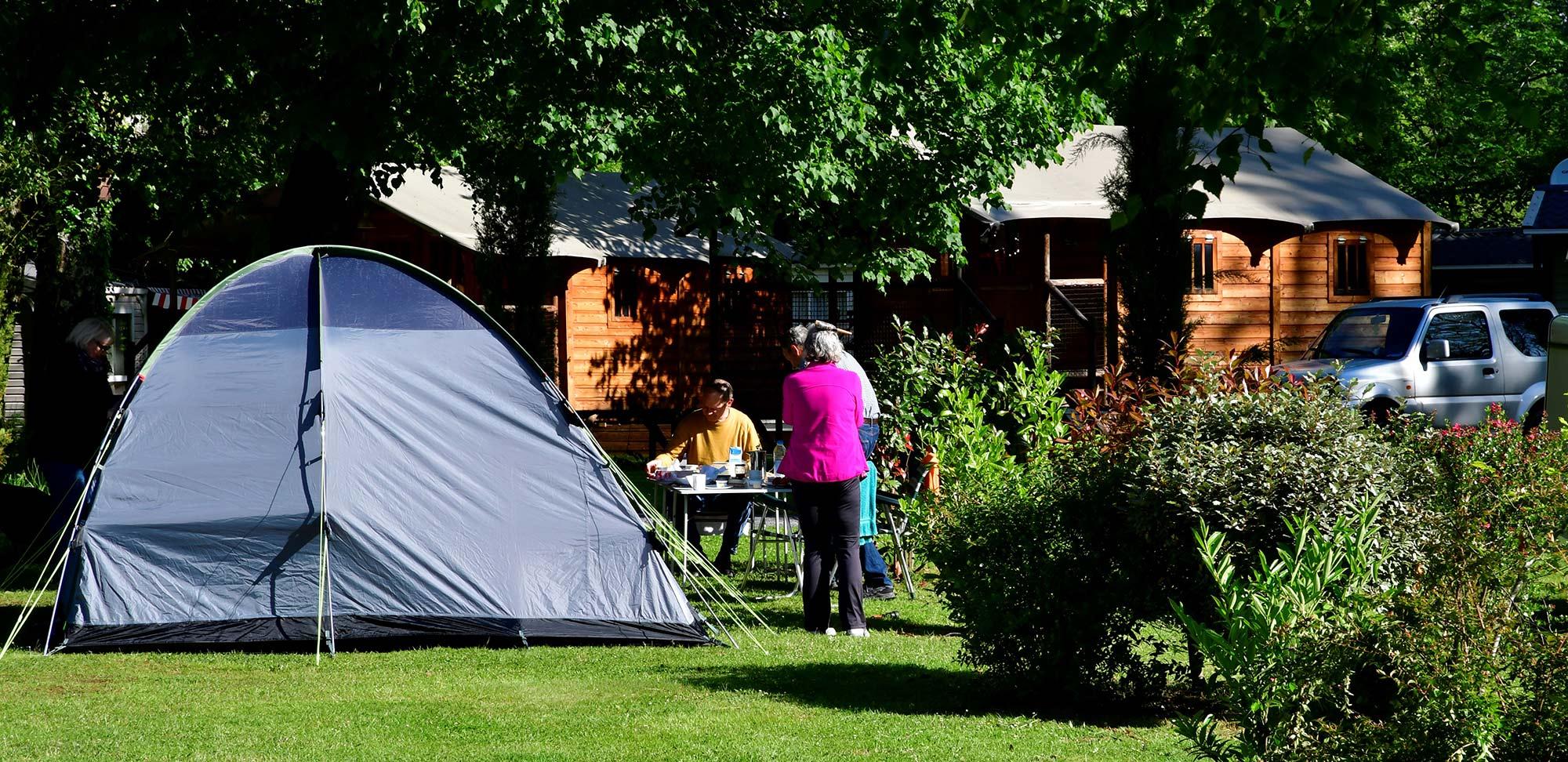 Camping familiar en los Altos Pirineos