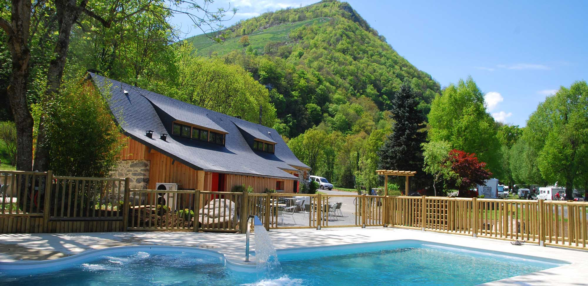 Piscine chauffée camping