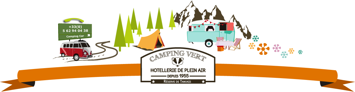 Green campsite, outdoor accommodation in Lourdes
